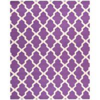 Safavieh Cambridge 8-Foot x 10-Foot Quatrefoil Rug in Purple/Ivory