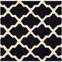 Safavieh Cambridge 6-Foot x 6-Foot Quatrefoil Rug in Black/Ivory