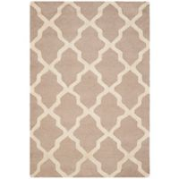 Safavieh Cambridge 3-Foot x 5-Foot Quatrefoil Rug in Beige/Ivory