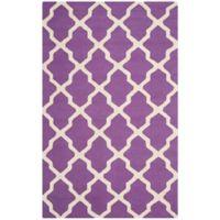 Safavieh Cambridge 5-Foot x 8-Foot Quatrefoil Rug in Purple/Ivory