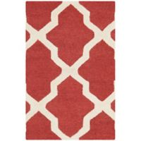 Safavieh Cambridge 2-Foot x 3-Foot Quatrefoil Rug in Rust/Ivory