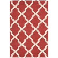 Safavieh Cambridge 3-Foot x 5-Foot Quatrefoil Rug in Rust/Ivory