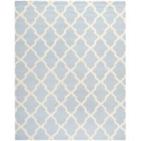 Safavieh Cambridge 7-Foot 6-Inch x 9-Foot 6-Inch Quatrefoil Rug in Light Blue/Ivory