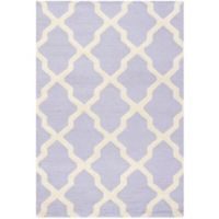 Safavieh Cambridge 3-Foot x 5-Foot Quatrefoil Rug in Lavander/Ivory