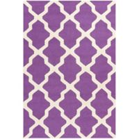 Safavieh Cambridge 3-Foot x 5-Foot Quatrefoil Rug in Purple/Ivory