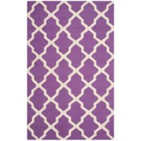 Safavieh Cambridge 6-Foot x 9-Foot Quatrefoil Rug in Purple/Ivory