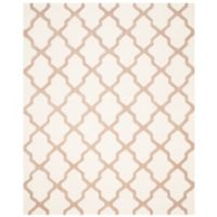 Safavieh Cambridge 8-Foot x 10-Foot Quatrefoil Rug in Ivory/Beige