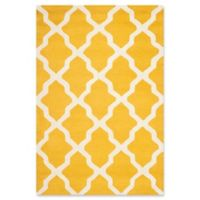 Safavieh Cambridge 3-Foot x 5-Foot Quatrefoil Rug in Gold/Ivory
