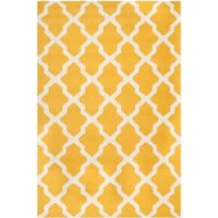 Safavieh Cambridge 6-Foot x 9-Foot Quatrefoil Rug in Gold/Ivory