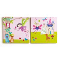 Imagine Fun Woodland Fairies Canvas Wall Art (Set of 2)