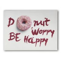 "Imagine Fun Girls Life ""Doughnut Worry Be Happy"" Canvas Wall Art"