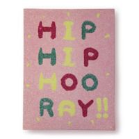"Imagine Fun Girls Life ""Hip Hip Hooray"" Glitter Canvas Wall Art"
