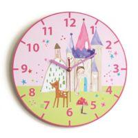 Imagine Fun Princess Wall Clock in Pink
