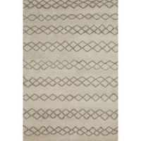Feizy Midelt Diamonds 9-Foot 6-Inch x 13-Foot 6-Inch Area Rug in Natural/Cashmere