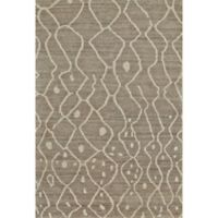 Feizy Midelt Curves and Dots 5-Foot 6-Inch x 8-Foot 6-Inch Area Rug in Natural/Grey