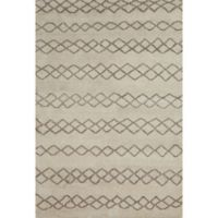 Feizy Midelt Diamonds 5-Foot 6-Inch x 8-Foot 6-Inch Area Rug in Natural/Cashmere