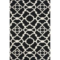 "Feizy Amalazari 3-Foot 6-Inch x 5-Foot 6""-Inch Hand-Hooked Area Rug in Black/White"