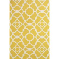 "Feizy Amalazari 3-Foot 6-Inch x 5-Foot 6""-Inch Hand-Hooked Area Rug in Yellow/White"