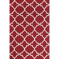 "Feizy Amalazari 3-Foot 6-Inch x 5-Foot 6""-Inch Hand-Hooked Area Rug in Red/White"