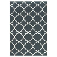 Feizy Amalazari 5-Foot x 8-Foot Hand-Hooked Area Rug in Gray/White