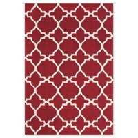 Feizy Amalazari 5-Foot x 8-Foot Hand-Hooked Area Rug in Red/White