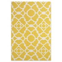 Feizy Amalazari 5-Foot x 8-Foot Hand-Hooked Area Rug in Yellow/White