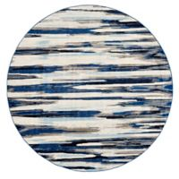 Feizy Manfred 8-Foot 9-Inch Round Area Rug in Indigo