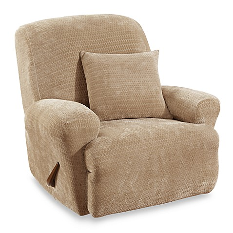 Sure Fit 174 Stretch Royal Diamond Recliner Slipcover Bed