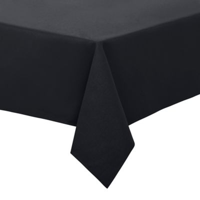 Bon Basketweave 52 Inch X 70 Inch Oblong Tablecloth In Black