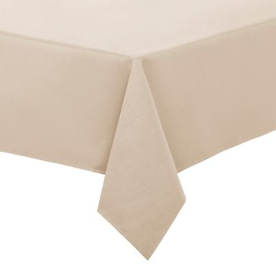 Basketweave 60 Inch Round Tablecloth In Taupe