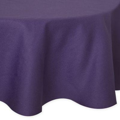 Bon Basketweave 60 Inch Round Tablecloth In Purple