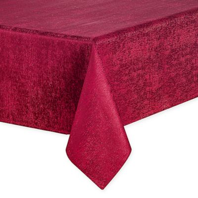 Waterford® Linens Lunar 70 Inch X 144 Inch Oblong Tablecloth In Burgundy