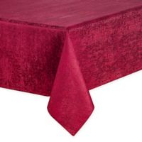 Waterford® Linens Lunar 70-Inch x 84-Inch Oblong Tablecloth in Burgundy