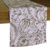 Watercolor Paisley 14-Inch x 90-Inch Table Runner in Natural