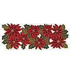 Winter Wonderland Beaded Poinsettia 36-Inch Table Runner