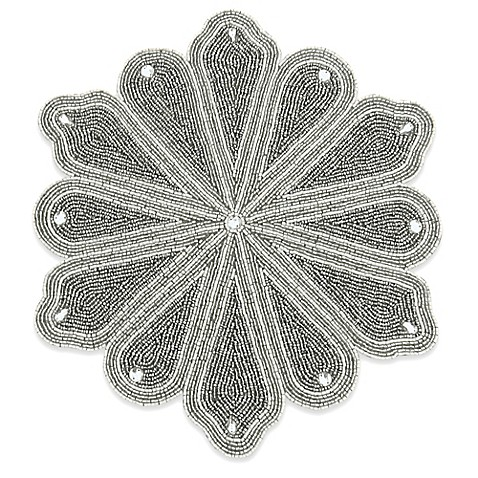 Winter Wonderland Beaded Snowflake Placemat Bed Bath