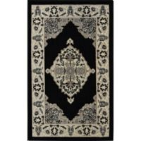 Home Dynamix Westwood 2-Foot 4-Inch x 3-Foot-11-Inch Border Accent Rug in Black