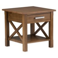 Simpli Home Kitchener End Table in Saddle Brown