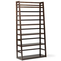 Acadian Pine Ladder Shelf in Tobacco Brown