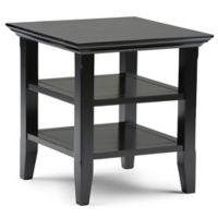 Acadian Pine End Table in Black