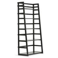 Acadian Pine Ladder Shelf in Black