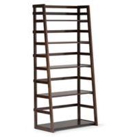Acadian Pine Ladder Shelf in Tobacco Brown