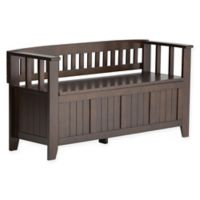 Acadian Pine Entryway Bench in Tobacco Brown