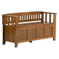 Acadian Pine Entryway Bench in Light Avalon Brown