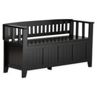 Acadian Pine Entryway Bench in Black