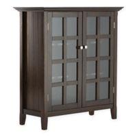 Acadian Pine 4-Shelf Storage Cabinet in Tobacco Brown
