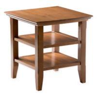 Acadian Pine End Table in Honey Brown
