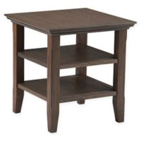 Acadian Pine End Table in Farmhouse Brown