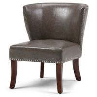 Jameston Bonded Leather Accent Chair in Grey