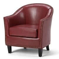 Kildare Bonded Leather Tub Chair in Red